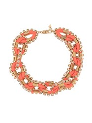 Dsquared2 Embellished Chain Necklace Orange