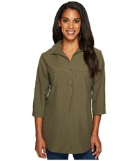 Royal Robbins Expedition Chill Stretch Tunic Loden Women's Long Sleeve Pullover Green