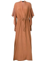 Lost And Found Ria Dunn Side Split Maxi Dress Brown