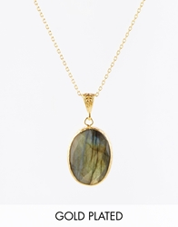 Ottoman Hands Classics Labradorite One Drop Necklace