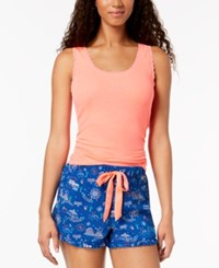 By Jennifer Moore Solid Pajama Tank Top Coral Cosmo