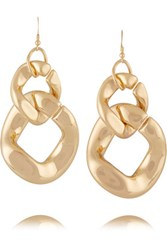 Kenneth Jay Lane Gold Tone Earrings One Size