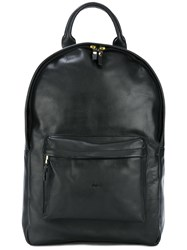 Ugly One Zip Up Backpack Black