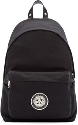 Versus Black Canvas Lion Backpack