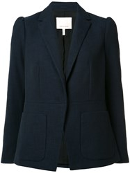 Rebecca Taylor Patch Pockets Blazer Blue