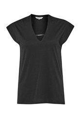 Great Plains Featherweight Jersey V Neck T Shirt Black