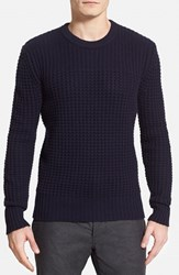 Burberry Men's Brit 'Mallory' Mixed Knit Crewneck Sweater