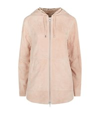 Public School Nyc Rin Suede Zip Up Hoodie Female Pink
