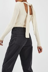 Topshop Ribbed Scoop Back Top By Boutique Buttermilk