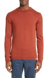 Norse Projects Men's Sigfred Merino Wool Sweater Pure Umber