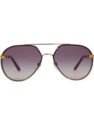 Burberry Check Detail Pilot Sunglasses Pink And Purple