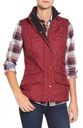 Barbour Women's 'Cavalry' Quilted Vest Burgundy