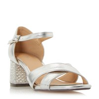 Linea Martini Heatseal Block Sandals Silver