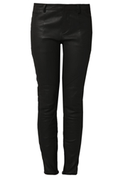 Lot 78 Lot78 Leather Trousers Black