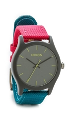 Nixon Mod Acetate Watch Charcoal Pink Teal