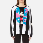 Marc Jacobs Women's Long Sleeve Raglan Sweatshirt Black Multi Black Multi