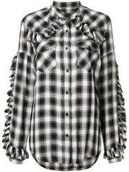 Forte Couture Checked Shirt Viscose Black