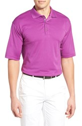 Bobby Jones Men's Solid Pima Cotton Jersey Polo Italian Plum