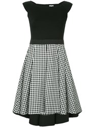 Guild Prime Contrasting Gingham Panel Dress Black