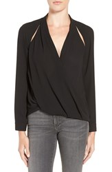 Trouve Women's Cutout Surplice Top