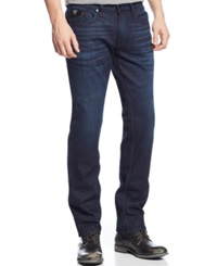 Guess Slim Straight Faux Leather Pocket Jeans Alvarado Wash