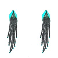Begada Chic Earrings Teal And Black