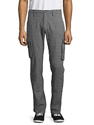 Saks Fifth Avenue Textured Cargo Pants Blue