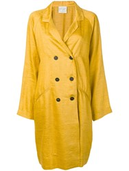 Forte Forte Oversized Double Breasted Jacket Yellow