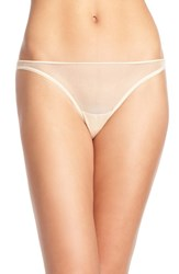Cosabella Women's 'Soire' Low Rise Mesh Thong Blush
