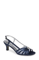 David Tate Cheer Sandal Navy Satin