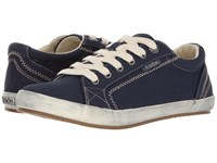 Taos Star Navy Twill Women's Lace Up Casual Shoes Blue