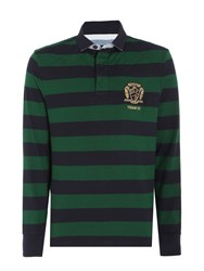 Howick Men's Colenorton Stripe Long Sleeve Rugby Shirt Green