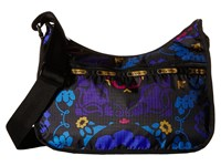 Le Sport Sac Classic Hobo Bag Midnight Flower Patch Cross Body Handbags Black
