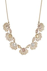 Givenchy Crystal Fan Cluster Frontal Necklace Metallic