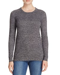 Bloomingdale's C By Crewneck Cashmere Sweater Black White Twist