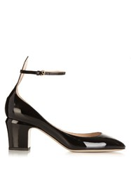 Valentino Tango Patent Leather Pumps Black