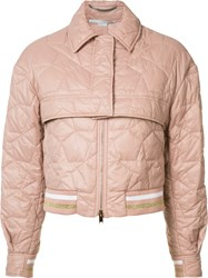 Stella Mccartney Cropped Bomber Jacket Pink Purple