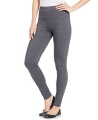 Style And Co. Rhinestone Tuxedo Leggings Only At Macy's Grey Heather