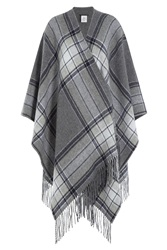 Theory Fringed Wool Cape Grey