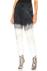 Baja East French Terry Sweatpants In Blue Gray Ombre And Tie Dye Blue Gray Ombre And Tie Dye