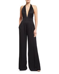 Rachel Zoe Sleeveless Tie Waist Wide Leg Jumpsuit Black