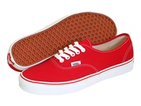 Vans Authentic Core Classics Red Skate Shoes