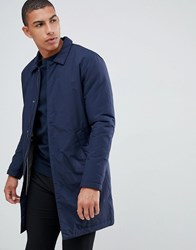 Selected Homme Padded Trench Navy