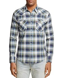 Levi's Barstow Western Plaid Regular Fit Snap Front Shirt Blue Multi