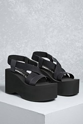 Forever 21 Rocket Dog Strappy Platforms Black