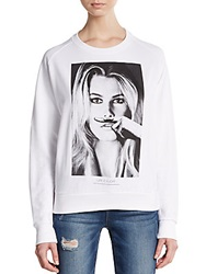 Eleven Paris Graphic Raglan Sweatshirt White
