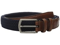 Torino Leather Co. 32Mm Italian Woven Multi Cotton Elastic Navy Belts