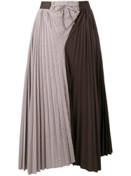 Jejia Cecile Pleated Skirt Brown