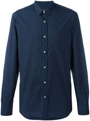 Officine Generale Button Up Shirt Blue