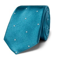 Paul Smith Polka Dot Silk Tie Teal